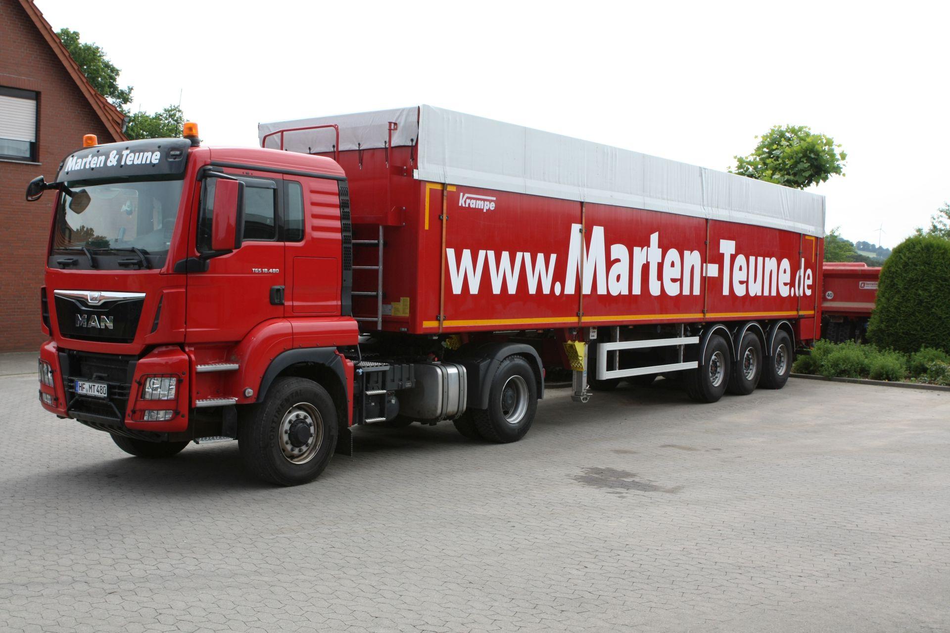 Transporte mit Krampe Rollbandwagen